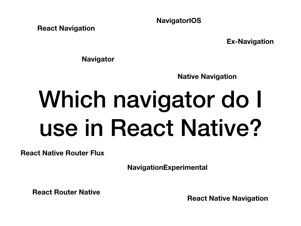 Navigator for react native