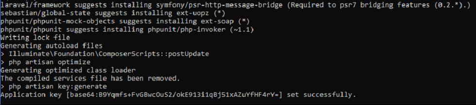 Laravel API framwork